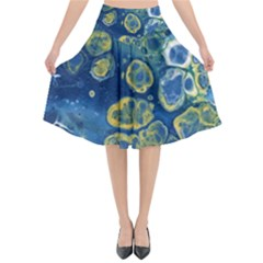 Churning Waters Flared Midi Skirt