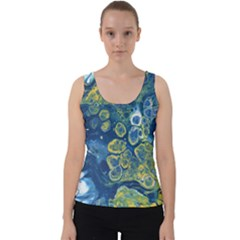 Churning Waters Velvet Tank Top