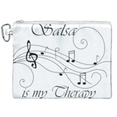 Salsa Is My Therapy Partition Canvas Cosmetic Bag (xxl)