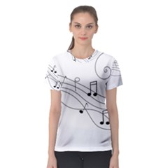 Music Partition Women s Sport Mesh Tee by alllovelyideas