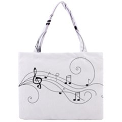 Music Partition Mini Tote Bag by alllovelyideas