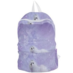Cute Little Maltese, Soft Colors Foldable Lightweight Backpack by FantasyWorld7