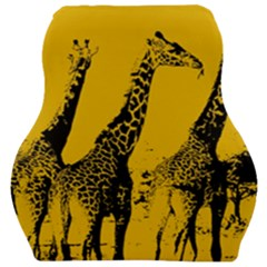 Giraffe  Car Seat Velour Cushion  by Valentinaart