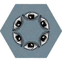 Pop Art Eye Mini Folding Umbrellas by Valentinaart