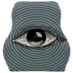 Pop Art Eye Car Seat Velour Cushion  by Valentinaart