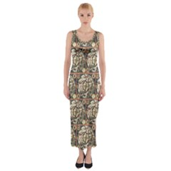Arctic Map Fitted Maxi Dress