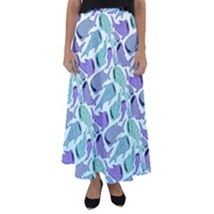 Whale Sharks Flared Maxi Skirt by mbendigo