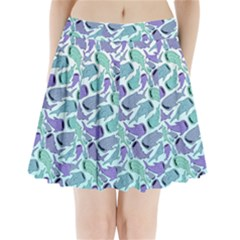 Whale Sharks Pleated Mini Skirt