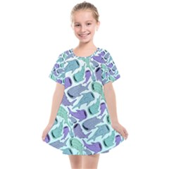 Whale Sharks Kids  Smock Dress by mbendigo