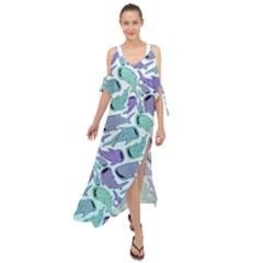 Whale Sharks Maxi Chiffon Cover Up Dress