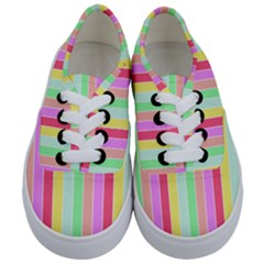 Pastel Rainbow Sorbet Deck Chair Stripes Kids  Classic Low Top Sneakers