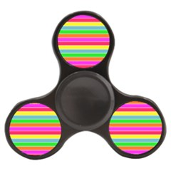 Neon Hawaiian Rainbow Horizontal Deck Chair Stripes Finger Spinner by PodArtist