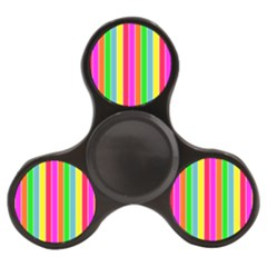 Neon Hawaiian Rainbow Deck Chair Stripes Finger Spinner by PodArtist