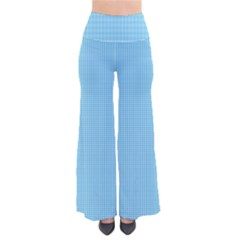 Oktoberfest Bavarian Blue Mini Houndstooth Check So Vintage Palazzo Pants by PodArtist