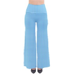 Oktoberfest Bavarian Blue Houndstooth Check So Vintage Palazzo Pants by PodArtist