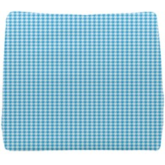 Oktoberfest Bavarian Blue Houndstooth Check Seat Cushion by PodArtist