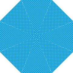 Mini White Polkadots On Oktoberfest Bavarian Blue Hook Handle Umbrellas (large) by PodArtist