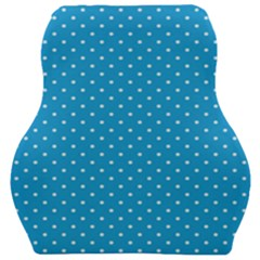 Mini White Polkadots On Oktoberfest Bavarian Blue Car Seat Velour Cushion  by PodArtist