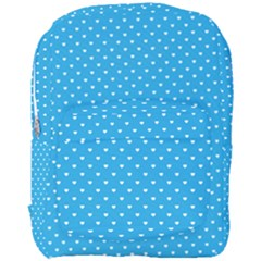 Mini White Love Hearts On  Oktoberfest Bavarian Blue Full Print Backpack