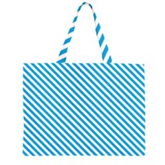 Oktoberfest Bavarian Blue And White Small Candy Cane Stripes Zipper Large Tote Bag by PodArtist