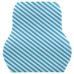 Oktoberfest Bavarian Blue And White Small Candy Cane Stripes Car Seat Back Cushion