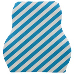 Oktoberfest Bavarian Blue And White Candy Cane Stripes Car Seat Velour Cushion  by PodArtist
