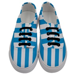 Oktoberfest Bavarian Blue And White Large Cabana Stripes Men s Classic Low Top Sneakers