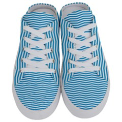 Oktoberfest Bavarian Blue And White Chevron Stripes Half Slippers by PodArtist