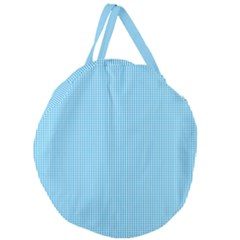 Oktoberfest Bavarian Blue And White Small Gingham Check Giant Round Zipper Tote by PodArtist