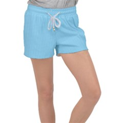 Oktoberfest Bavarian Blue And White Small Gingham Check Women s Velour Lounge Shorts