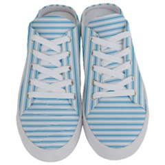 Oktoberfest Bavarian Blue And White Large Mattress Ticking Stripes Half Slippers by PodArtist
