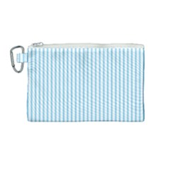 Oktoberfest Bavarian Blue And White Mattress Ticking Canvas Cosmetic Bag (medium)