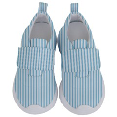 Oktoberfest Bavarian Blue And White Mattress Ticking Velcro Strap Shoes