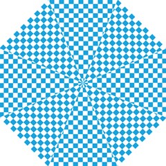 Oktoberfest Bavarian Large Blue And White Checkerboard Folding Umbrellas by PodArtist