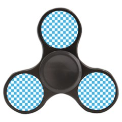 Oktoberfest Bavarian Large Blue And White Checkerboard Finger Spinner by PodArtist