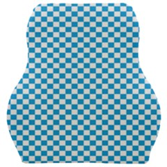 Oktoberfest Bavarian Blue And White Checkerboard Car Seat Velour Cushion  by PodArtist