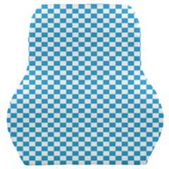 Oktoberfest Bavarian Blue And White Checkerboard Car Seat Back Cushion  by PodArtist