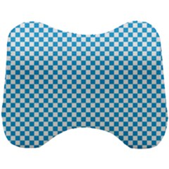 Oktoberfest Bavarian Blue And White Checkerboard Head Support Cushion by PodArtist