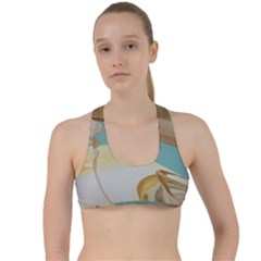 Sun Bubble Criss Cross Racerback Sports Bra