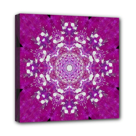 Wonderful Star Flower Painted On Canvas Mini Canvas 8  X 8  (stretched) by pepitasart