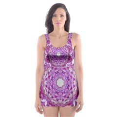 Wonderful Star Flower Painted On Canvas Skater Dress Swimsuit by pepitasart