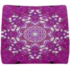 Wonderful Star Flower Painted On Canvas Seat Cushion by pepitasart