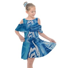 Tsunami Kids  Shoulder Cutout Chiffon Dress