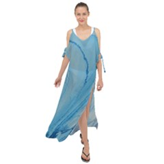 Spiral Maxi Chiffon Cover Up Dress