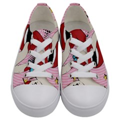 Pop Art   Kids  Low Top Canvas Sneakers