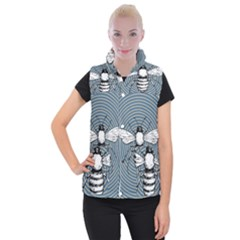 Pop Art  Bee Women s Button Up Vest
