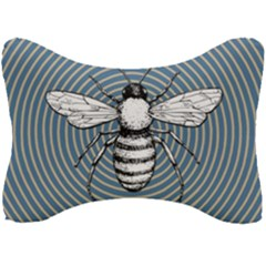 Pop Art  Bee Seat Head Rest Cushion by Valentinaart