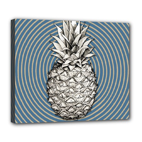 Pop Art  Pineapple  Deluxe Canvas 24  X 20  (stretched) by Valentinaart