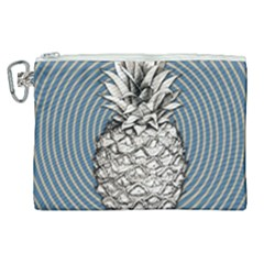 Pop Art  Pineapple  Canvas Cosmetic Bag (xl)