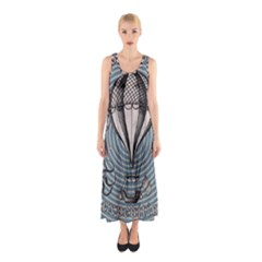 Vintage Adventure Expedition Sleeveless Maxi Dress